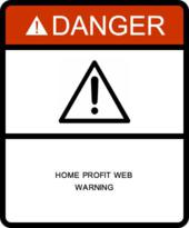 Home Profit Web Warning