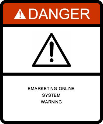 eMarketing Online System Warning